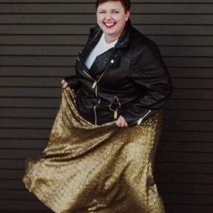 Dresses & Skirts - Gold Sequin Plus Size Formal Skirt